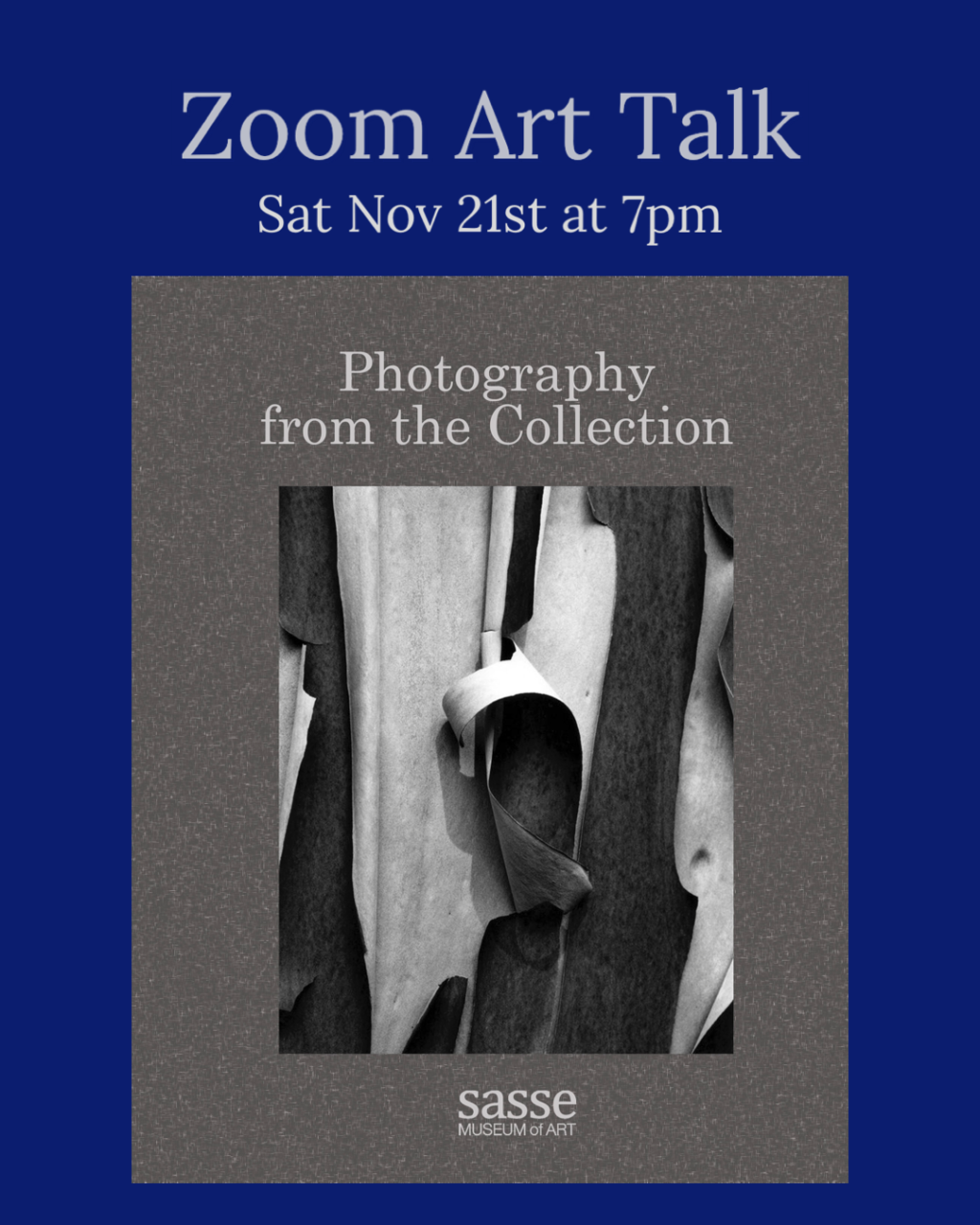 Zoom Art Talk | Photography from the Collection | Sasse Museum of Art